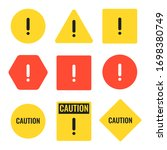 set of simple caution icons.... | Shutterstock .eps vector #1698380749