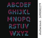 full vector alphabet with...   Shutterstock .eps vector #1698382279