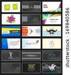 big set of vector creative... | Shutterstock .eps vector #169840586