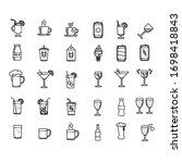 drink set icon design vector.... | Shutterstock .eps vector #1698418843