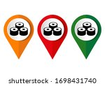 map marker with icon of a sushi ... | Shutterstock .eps vector #1698431740