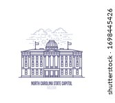 north carolina state capitol... | Shutterstock .eps vector #1698445426
