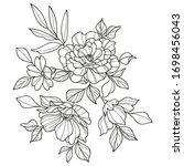 vector image of flowers... | Shutterstock .eps vector #1698456043