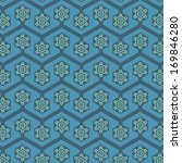 a variety of snowflake retro... | Shutterstock .eps vector #169846280