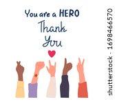 thank you doctor  nurses ... | Shutterstock .eps vector #1698466570