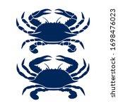 Blue Crab On White Background....
