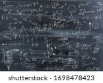 Small photo of Impregnable mathematics. Crazy mathematics formulas