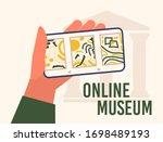 museum exhibit online concept....   Shutterstock .eps vector #1698489193