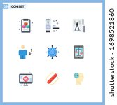 pictogram set of 9 simple flat...   Shutterstock .eps vector #1698521860