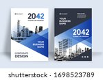 corporate book cover design... | Shutterstock .eps vector #1698523789