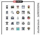 user interface pack of 25 basic ... | Shutterstock .eps vector #1698535096
