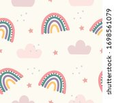 abstract backround with rainbow ...   Shutterstock .eps vector #1698561079