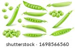 Set Of Whole And Opened Pea...