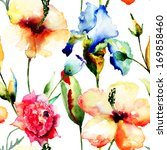 floral seamless pattern ... | Shutterstock . vector #169858460