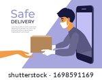 safe delivery service concept.... | Shutterstock .eps vector #1698591169