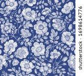 vintage floral illustration.... | Shutterstock .eps vector #1698614776