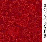 seamless pattern of hearts with ...   Shutterstock .eps vector #169864613