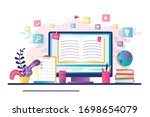 E Learning Banner. Online...
