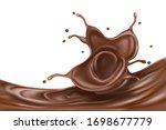 chocolate splashing isolated on ...   Shutterstock .eps vector #1698677779