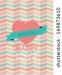 happy love poster template... | Shutterstock .eps vector #169873610