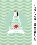 wedding poster template vector... | Shutterstock .eps vector #169873634