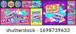 funky 90s disco party poster.... | Shutterstock .eps vector #1698739633
