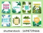abstract summer poster. enjoy...   Shutterstock .eps vector #1698739666