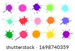 color paint splatter. colorful... | Shutterstock .eps vector #1698740359