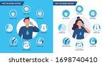 drinking water benefits.... | Shutterstock .eps vector #1698740410