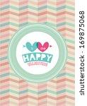 happy valentine poster template ...   Shutterstock .eps vector #169875068