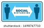 social distancing awareness... | Shutterstock .eps vector #1698767710