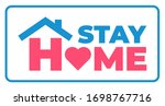 stay at home awareness social... | Shutterstock .eps vector #1698767716