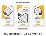 food menu banner social media... | Shutterstock .eps vector #1698795469