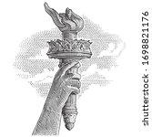 statue of liberty torch...   Shutterstock .eps vector #1698821176