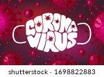 coronavirus lettering vector...   Shutterstock .eps vector #1698822883