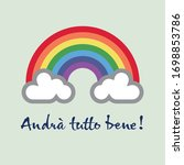 a rainbow for hope and wish ... | Shutterstock .eps vector #1698853786