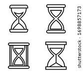 hourglass line icon  logo...