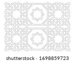 black and white 2d cad drawing... | Shutterstock . vector #1698859723