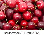 beautiful red fresh cherry... | Shutterstock . vector #169887164