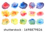 colorfull watercolor textures.... | Shutterstock . vector #1698879826