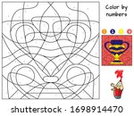 ancient vase. color by numbers. ...   Shutterstock .eps vector #1698914470