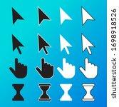 pixel cursor pointer  hand ... | Shutterstock .eps vector #1698918526