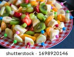 Fruit Canape For A Buffet On A...