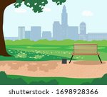 illustration of a summer day in ...   Shutterstock .eps vector #1698928366