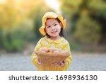 A Cute Little Girl Is Wearing A ...