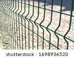 Metal Fence Close Up. Territory ...