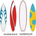 surfboard vector | Shutterstock .eps vector #169894229