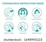 set icons infographic of...   Shutterstock .eps vector #1698945223