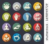 alternative medicine vector... | Shutterstock .eps vector #1698949729