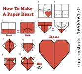how to make a paper heart | Shutterstock .eps vector #169896170